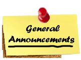 <h2>General Announcements</h2>